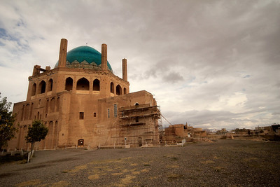 Mausoleum of the Mongol Sultan Olijeitu Khadabandeh, Soltaniyeh, NW Iran. One of the largest domes in the world at 48m height and 25m diameter. 700 years old.