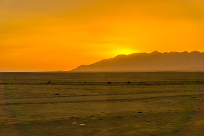 A beautiful sunset in the Iranian desert.