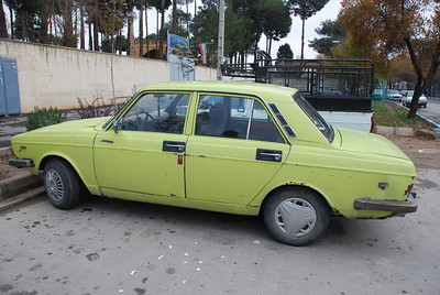 The Paykan, an Irani manufactured car based on a 1966 Hillman Hunter.