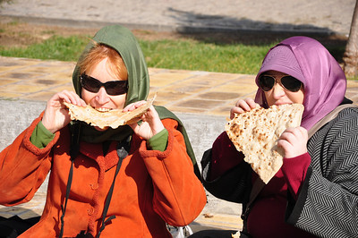 We love lavash!  We sat in a small park by the minaret and watched the world go by.