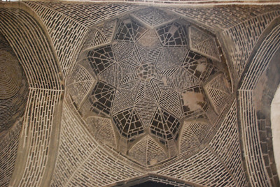 The Jameh Mosque in Isfahan.  The current mosque dates from 1121 and has sections built by all the major ruling powers over the years.