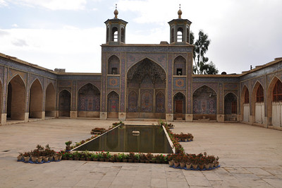 Interior courtyard of Nassir ol Molk.