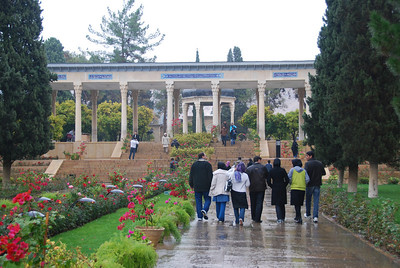 The beautiful gardens at the tomb of Hafaz in Shiraz, Iran.