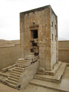 Opposite the tombs at Naqsh-e Rostam is a small building called the Kaba Zartosht, its purpose is still being debated, maybe it was a fire temple or a treasury