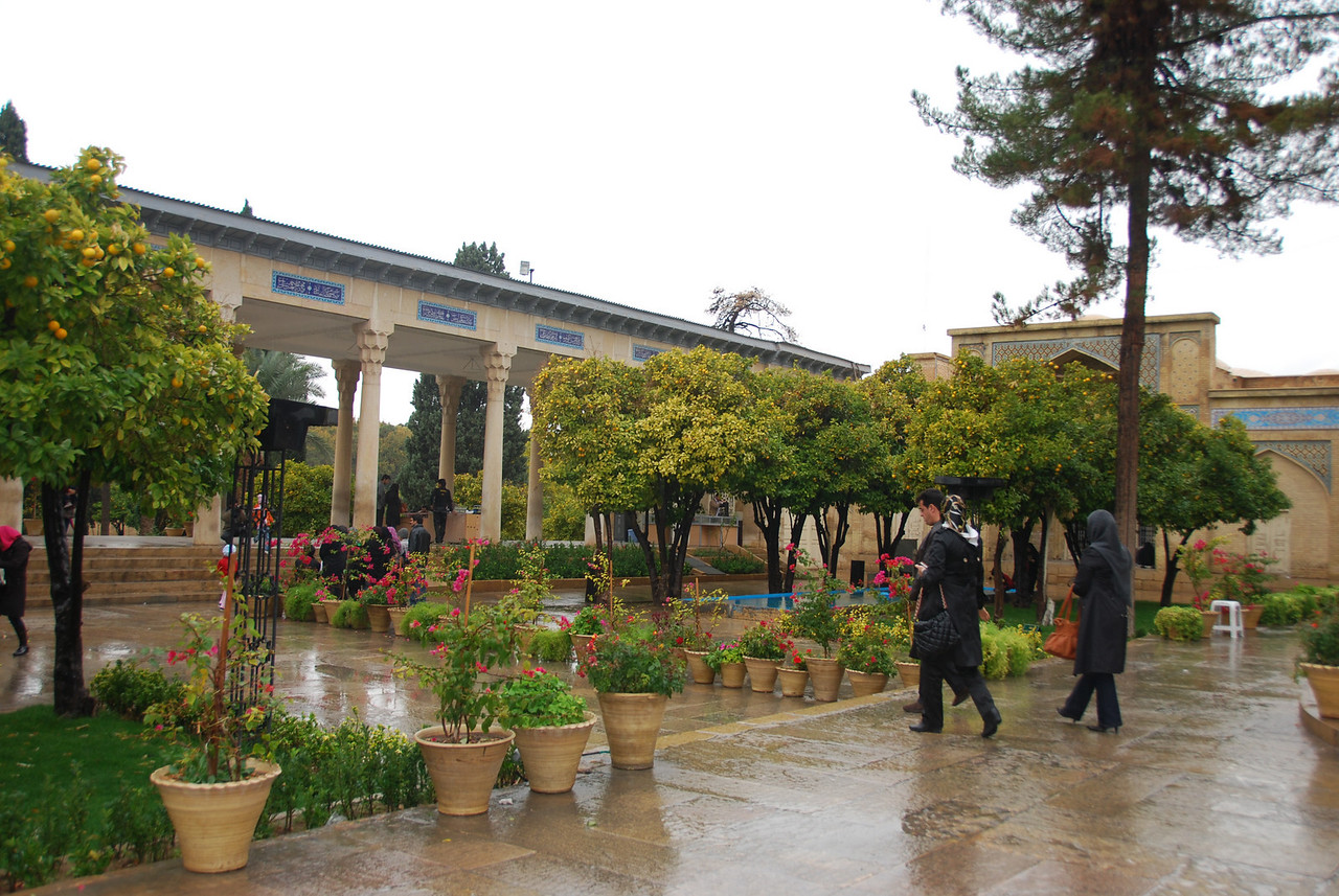 In the gardens at the tomb of Hafez