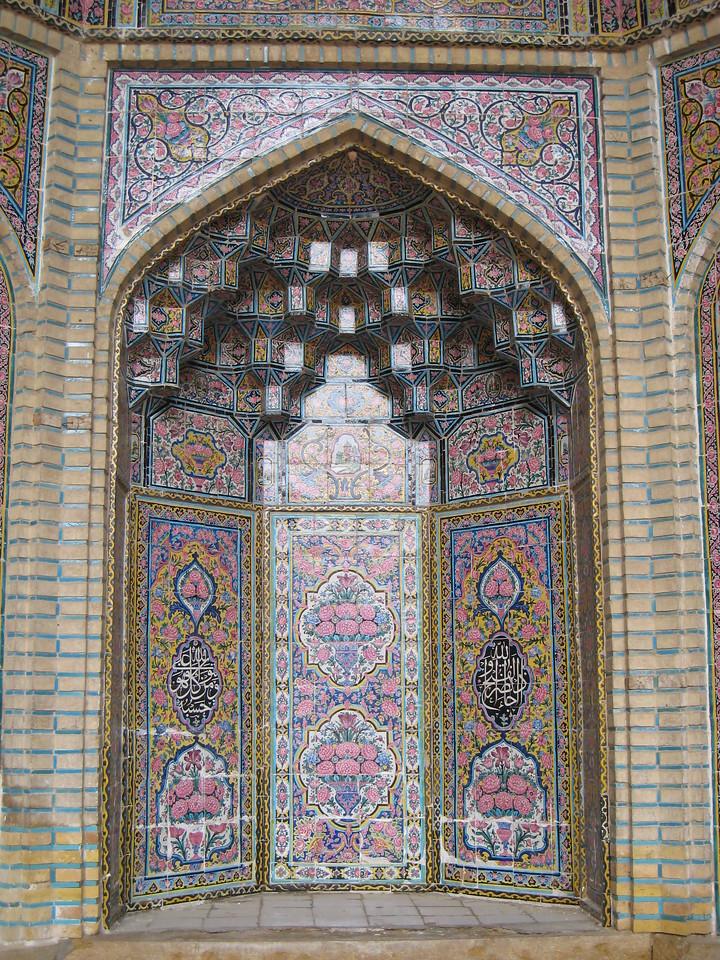 Mosque of Nassir ol Molk in Shiraz.