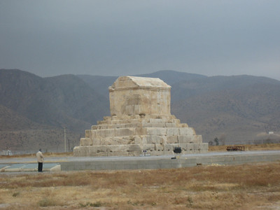 The tomb of Cyrus the Great, once the centrepiece of a large garden but now its on its own out on a desolate plain.