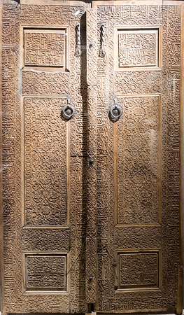 National Museum: Carved Wooden Door - 16th Century