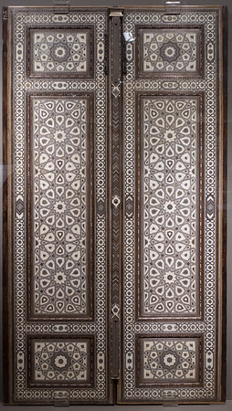 National Museum: Inlaid Wooden Door - 17th Century