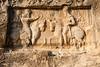 Sassanian bas-relief at Tang-e Chowgan depicting Ahura Mazda conferring the Ring of Power on Bahram I
