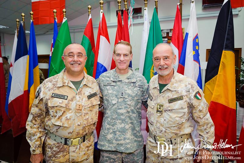 1 JUL 2011 - LTG Ferriter (USF-I DCG A&T / NTM-I Cdr) officiates NATO Training Mission Handover/Turnover Ceremony.  Babylon Conference Center, Baghdad, Iraq. Photo by John D. Helms - john.helms@iraq.centcom.mil.
