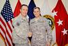 28 AUG 2011 - LTG Ferriter (USF-I DCG A&T) farewells LTC Dibella.  Union III, Baghdad, Iraq. U.S. Army photo by John D. Helms - john.helms@iraq.centcom.mil.