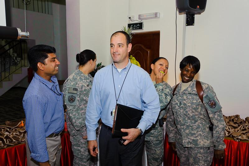 16 AUG 2011 - LTG Helmick (USF-I Deputy Commanding General, Operations) hosts an IFTAR at the Babylon Conference Center, FOB Union III, Baghdad, Iraq.  U.S. Army photo by John D. Helms - john.helms@iraq.centcom.mil.