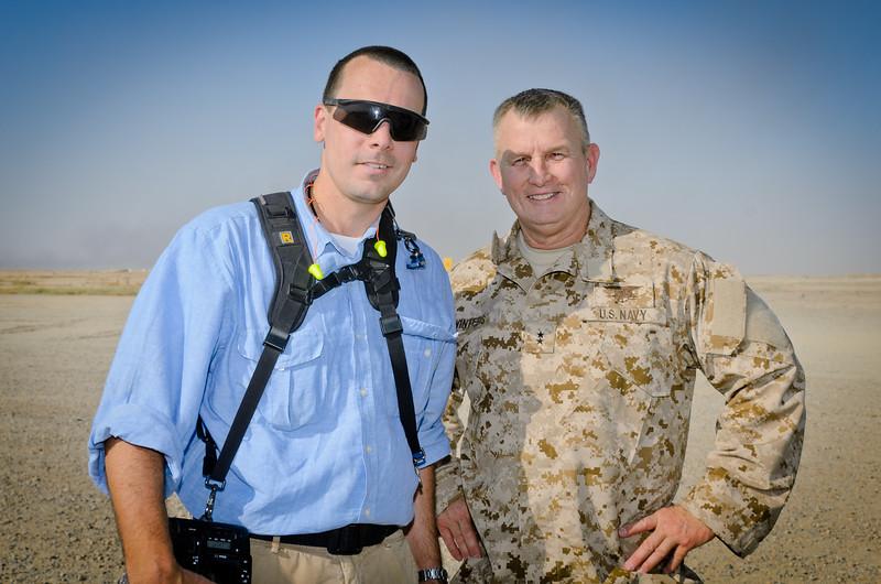 29 AUG 2011 - LTG Ferriter (USF-I DCG A&T) and AMB Jeffrey visit Besmaya, Iraq for M1A1 tank demonstrations.  U.S. Army photo by SSG Daileg.