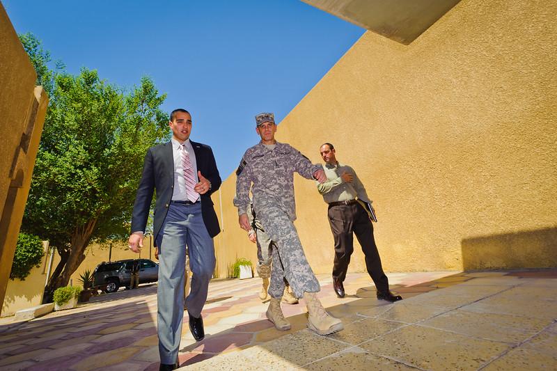 27 AUG 2011 - New Iraqi Minister of Defense Dulaymi visits FOB Union III. U.S. Army photo by John D. Helms - john.helms@iraq.centcom.mil.
