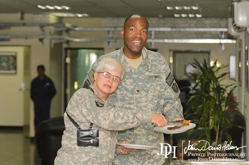 22 AUG 2011 - Weekly POB at Building One, FOB Union III, Baghdad, Iraq. U.S. Army photo by John D. Helms - john.helms@iraq.centcom.mil.