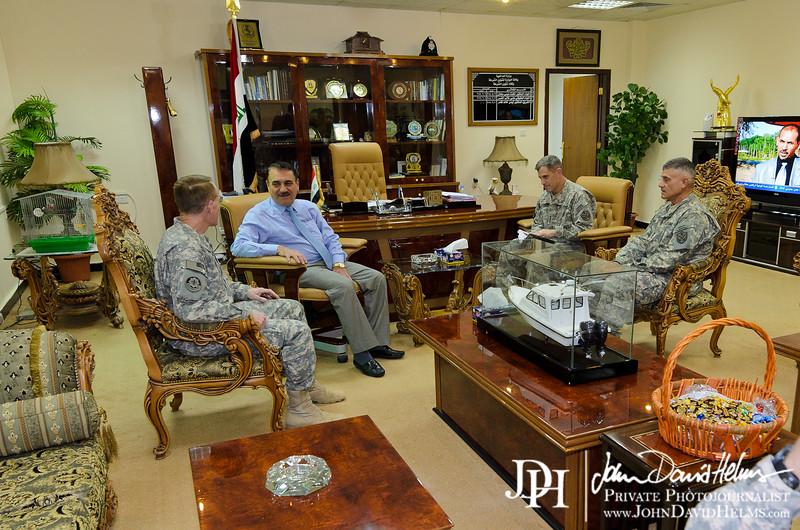 27 SEP 2011 - LTG Ferriter and LTG Caslen meet with Iraqi Deputy Minister Ayden at the Ministry of Interior.  Baghdad, Iraq. U.S. Army photo by John D. Helms - john.helms@iraq.centcom.mil.