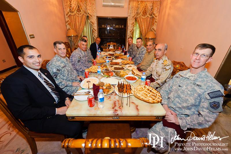 26 SEP 2011 - LTG Ferriter and LTG Caslen meet with Iraqi leaders GEN Babakir and GEN Abadi.  Baghdad, Iraq. U.S. Army photo by John D. Helms - john.helms@iraq.centcom.mil.