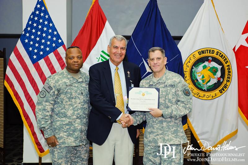 26 SEP 2011 - USF-I DCG A&T Senior Leader Hail and Farewell.  Babylon Conference Center, FOB Union III, Baghdad, Iraq. U.S. Army photo by John D. Helms - john.helms@iraq.centcom.mil.