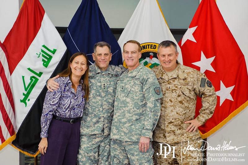 26 SEP 2011 - USF-I DCG A&T Senior Leaders host a farewell dinner for LTG Michael Ferriter.  Babylon Conference Center, Baghdad, Iraq. U.S. Army photo by John D. Helms - john.helms@iraq.centcom.mil.