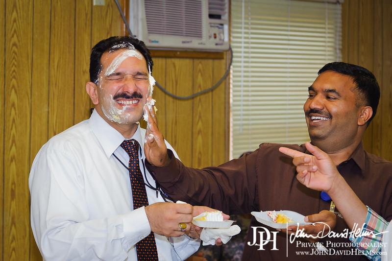 01 SEP 2011 - Ameer's birthday at the Robert Hernandez DFAC, FOB Union III, Baghdad, Iraq.  U.S. Army photo by John D. Helms - john.helms@iraq.centcom.mil.