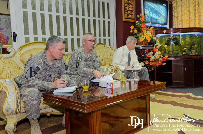 27 SEP 2011 - LTG Ferriter and LTG Caslen meet with Iraqi Senior Deputy Minister Al Assadi at the Ministry of Interior.  Baghdad, Iraq. U.S. Army photo by John D. Helms - john.helms@iraq.centcom.mil.