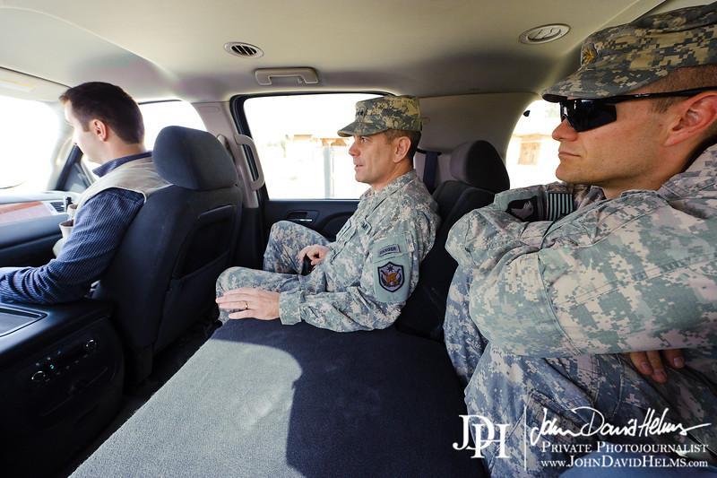 30 SEP 2011 - LTG Ferriter and LTG Caslen fly to Al Assad Air Base for USF-I meetings. U.S. Army photo by John D. Helms - john.helms@iraq.centcom.mil.