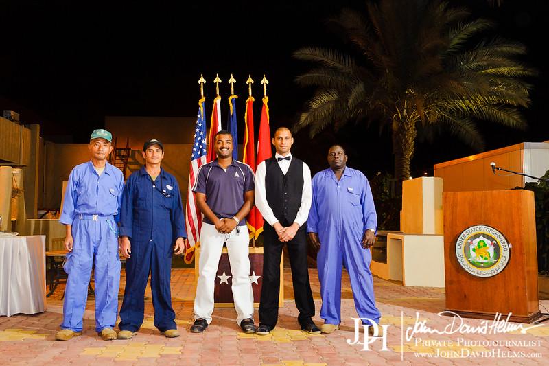 9 OCT 2011 - Farewell ceremony for MG May, BLDG 1 patio, FOB Union III, Baghdad, Iraq. U.S. Army photo by John D. Helms - john.helms@iraq.centcom.mil.
