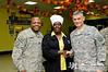 24 NOV 2011 - OSC-I Chief and NTM-I Commander LTG Robert L. Caslen, Jr. and OSC-I CSM George Manning visit Taji, Iraq to wish deployed Service Members and Civilians a Happy Thanksgiving.  Photo by John D. Helms - john.helms@iraq.centcom.mil.
