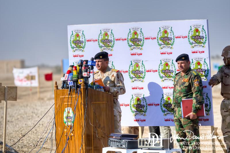 22 NOV 2011 - OSC-I Chief and NTM-I Commander LTG Robert L. Caslen, Jr. visits Besmaya, Iraq for artillery demonstrations with GEN Aboud and other Iraqi leadership.  Photo by John D. Helms - john.helms@iraq.centcom.mil.