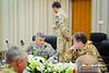 27 NOV 2011 - OSC-I Chief and NTM-I Commander LTG Robert L. Caslen, Jr. and other NTM-I leaders meet with Mr. Hamza and Mr. Saffa from the NSA office.  Baghdad, Iraq.  Photo by John D. Helms - john.helms@iraq.centcom.mil.