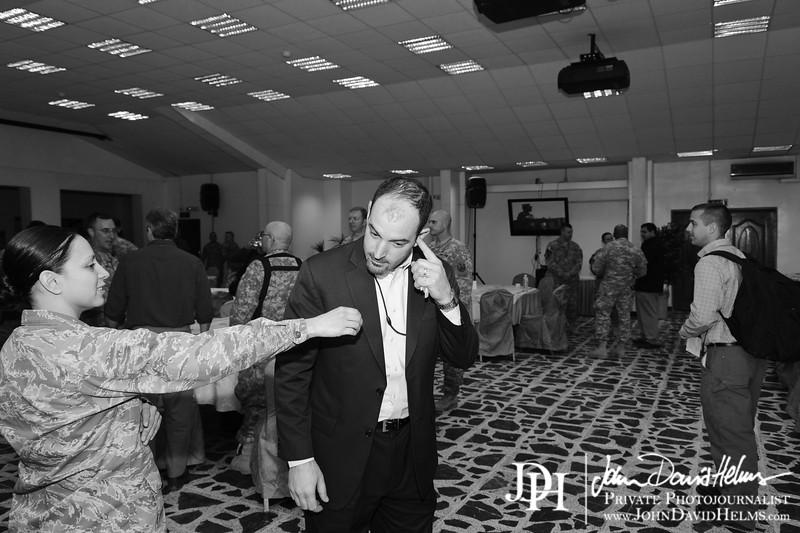 10 NOV 2011 - OSC-I Chief and NTM-I Commander LTG Robert L. Caslen, Jr. welcomes a Congressional Delegation including Rep McCaul (R-TX), Rep Duncan (R-SC), Rep Cuellar (D-TX), Rep Fitzpatrick (R-PA), and Rep Green (D-TX).  FOB Union III, Baghdad, Iraq.  U.S. Army photo by John D. Helms - john.helms@iraq.centcom.mil.