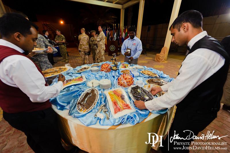 16 NOV 2011 - OSC-I Chief and NTM-I Commander LTG Robert L. Caslen, Jr. hosts the quarterly NATO Ambassador Reception at FOB Union III, Baghdad, Iraq. U.S. Army photo by John D. Helms - john.helms@iraq.centcom.mil.