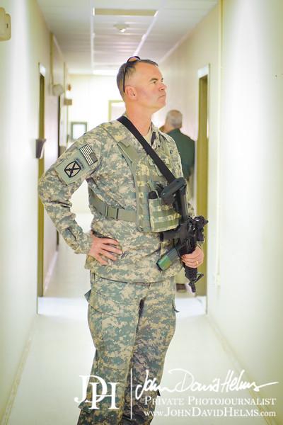 19 NOV 2011 - OSC-I Chief and NTM-I Commander LTG Robert L. Caslen, Jr. visits Tikrit, Iraq for various meetings. Photo by John D. Helms - john.helms@iraq.centcom.mil.