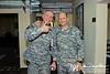 14 NOV 2011 - OSC-I Chief and NTM-I Commander LTG Robert L. Caslen, Jr. meets with SIGIR Stuart Bowen at BLDG One, FOB Union III, Baghdad, Iraq.  U.S. Army photo by John D. Helms - john.helms@iraq.centcom.mil.