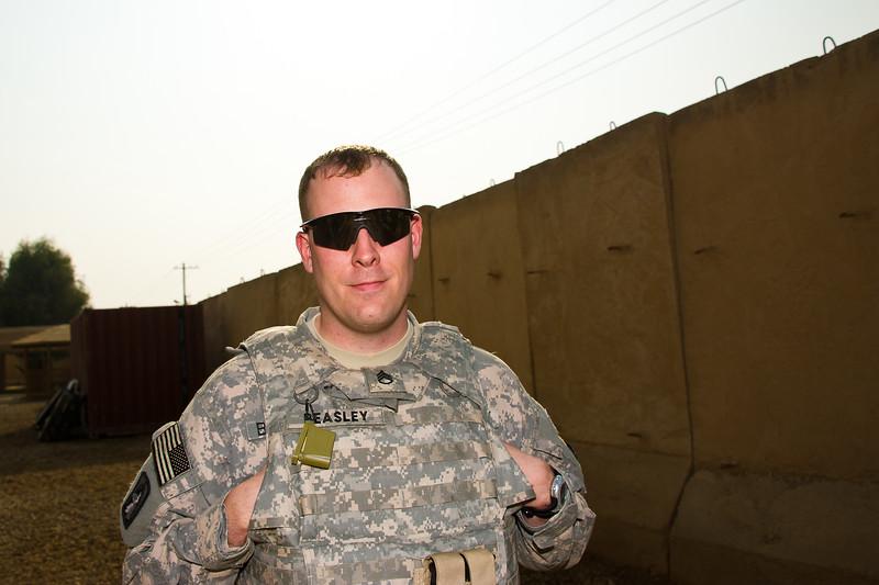 24 DEC 2011 - OSC-I Chief LTG Robert L. Caslen, Jr. and OSC-I CSM George Manning visit Taji, Iraq for meetings.  Photo by John D. Helms - john.helms@iraq.centcom.mil.