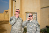 24 DEC 2011 - OSC-I Chief LTG Robert L. Caslen, Jr. and OSC-I CSM George Manning visit Taji, Iraq for meetings.  Photo by John D. Helms - john.helms@iraq.centcom.mil.
