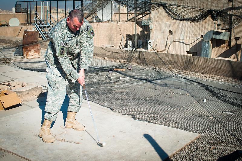 4 DEC 2011 - BLDG Five, FOB Union III, Baghdad, Iraq.  Photo by John D. Helms - john.helms@iraq.centcom.mil.