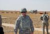 25 DEC 2011 - OSC-I Chief LTG Robert L. Caslen, Jr. and OSC-I CSM George Manning visit Tikrit, Iraq for meetings. Baghdad, Iraq.  Photo by John D. Helms - john.helms@iraq.centcom.mil.
