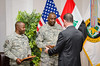 7 DEC 2011 - OSC-I Chief and NTM-I Commander LTG Robert L. Caslen, Jr. hosts a farewell reception for USF-I Senior Leaders at the Babylon Conference Center, FOB Union III, Baghdad, Iraq.  Photo by John D. Helms - john.helms@iraq.centcom.mil