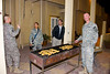 24 DEC 2011 - CSM Manning birthday party, BLDG One patio, Embassy Attache Annex, Baghdad, Iraq.  Photo by John D. Helms - john.helms@iraq.centcom.mil