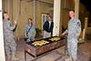 24 DEC 2011 - CSM Manning birthday party, BLDG One patio, Embassy Attache Annex, Baghdad, Iraq.  Photo by John D. Helms - john.helms@iraq.centcom.mil