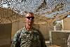 24 DEC 2011 - OSC-I Chief LTG Robert L. Caslen, Jr. and OSC-I CSM George Manning visit the Baghdad Diplomatic Support Center for meetings. Baghdad, Iraq.  Photo by John D. Helms - john.helms@iraq.centcom.mil.