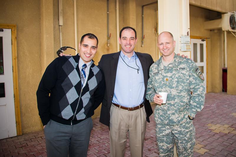17 DEC 2011 - NTM-I End of Training Mission reception, BLDG One Patio, FOB Union III, Baghdad, Iraq.  Photo by John D. Helms - john.helms@iraq.centcom.mil.