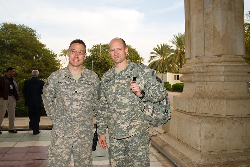 14 DEC 2011 - OSC-I Chief and NTM-I Commander LTG Robert L. Caslen, Jr. and RADM Ed Winters meet with sLTG Abd-al-Ghani (CTS), Believer's Palace, Baghdad, Iraq.  Photo by John D. Helms - john.helms@iraq.centcom.mil.