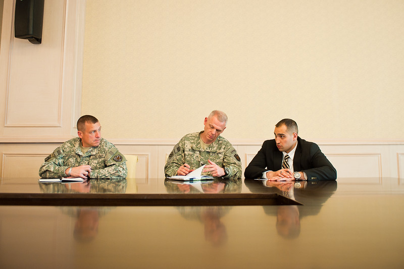6 DEC 2011 - OSC-I Chief and NTM-I Commander LTG Robert L. Caslen, Jr. attends the Iraq - UAE Security Cooperation Meeting with GEN Austin (USF-I CG), General Babakir Zebari (Chief of Staff, Iraqi Joint Forces), LTG Hamad Mohammed Thani Al Rumaithi (Chief of Staff, UAE Armed Forces) and other leaders.  Baghdad, Iraq.  Photo by John D. Helms - john.helms@iraq.centcom.mil.