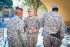 8 DEC 2011 - OSC-I Joint Staff group photo with BG Bryan Roberts in front of the Babylon Conference Center, FOB Union III, Baghdad, Iraq.  Photo by John D. Helms - john.helms@iraq.centcom.mil.