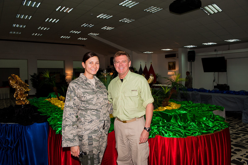 9 DEC 2011 - BG Donahue is interviewed by CNN at FOB Union III, Baghdad, Iraq.  Photo by John D. Helms - john.helms@iraq.centcom.mil
