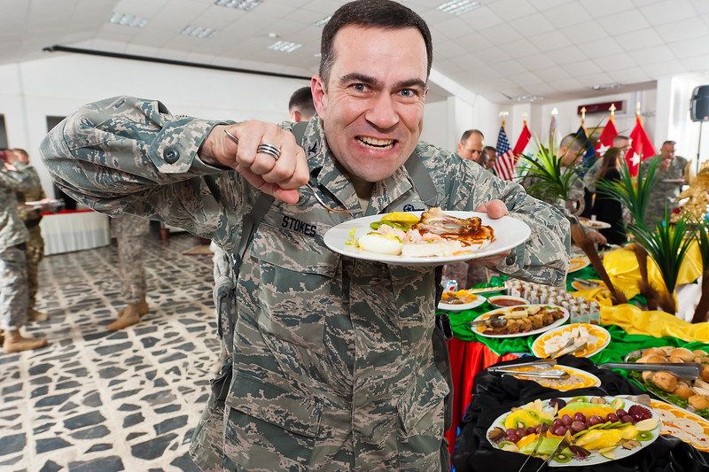7 DEC 2011 - OSC-I Chief and NTM-I Commander LTG Robert L. Caslen, Jr. hosts a farewell reception for USF-I Senior Leaders at the Babylon Conference Center, FOB Union III, Baghdad, Iraq.  Photo by LTC Tom Hanson.
