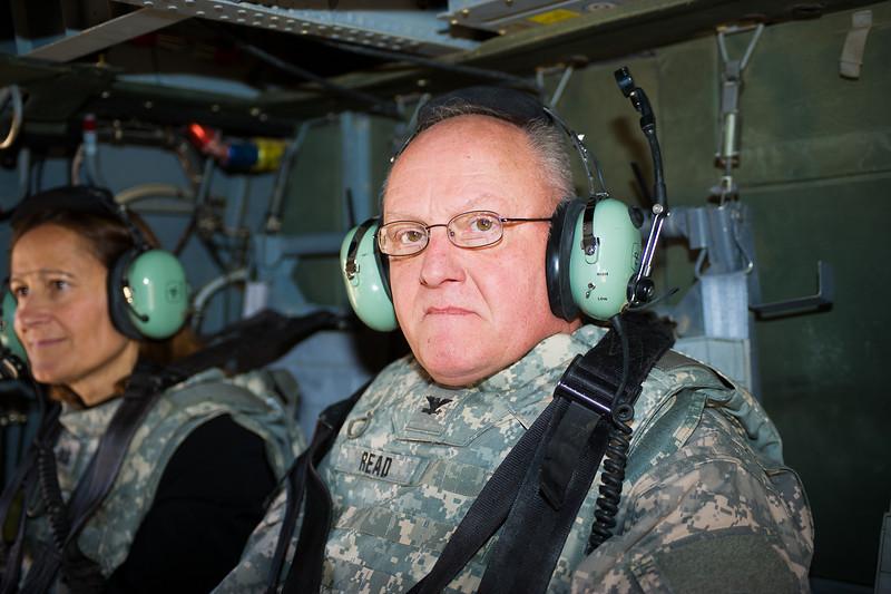 14 DEC 2011 - OSC-I Chief and NTM-I Commander LTG Robert L. Caslen, Jr. and Ms. Diane Devens visit Tikrit, Iraq for a meeting with contractor representatives.  Photo by John D. Helms - john.helms@iraq.centcom.mil.